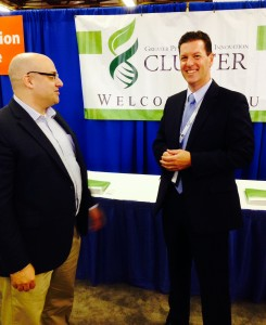Innovation Cluster CEO, Martin Yuill, with Bereskin & Parr's Tony Orsi