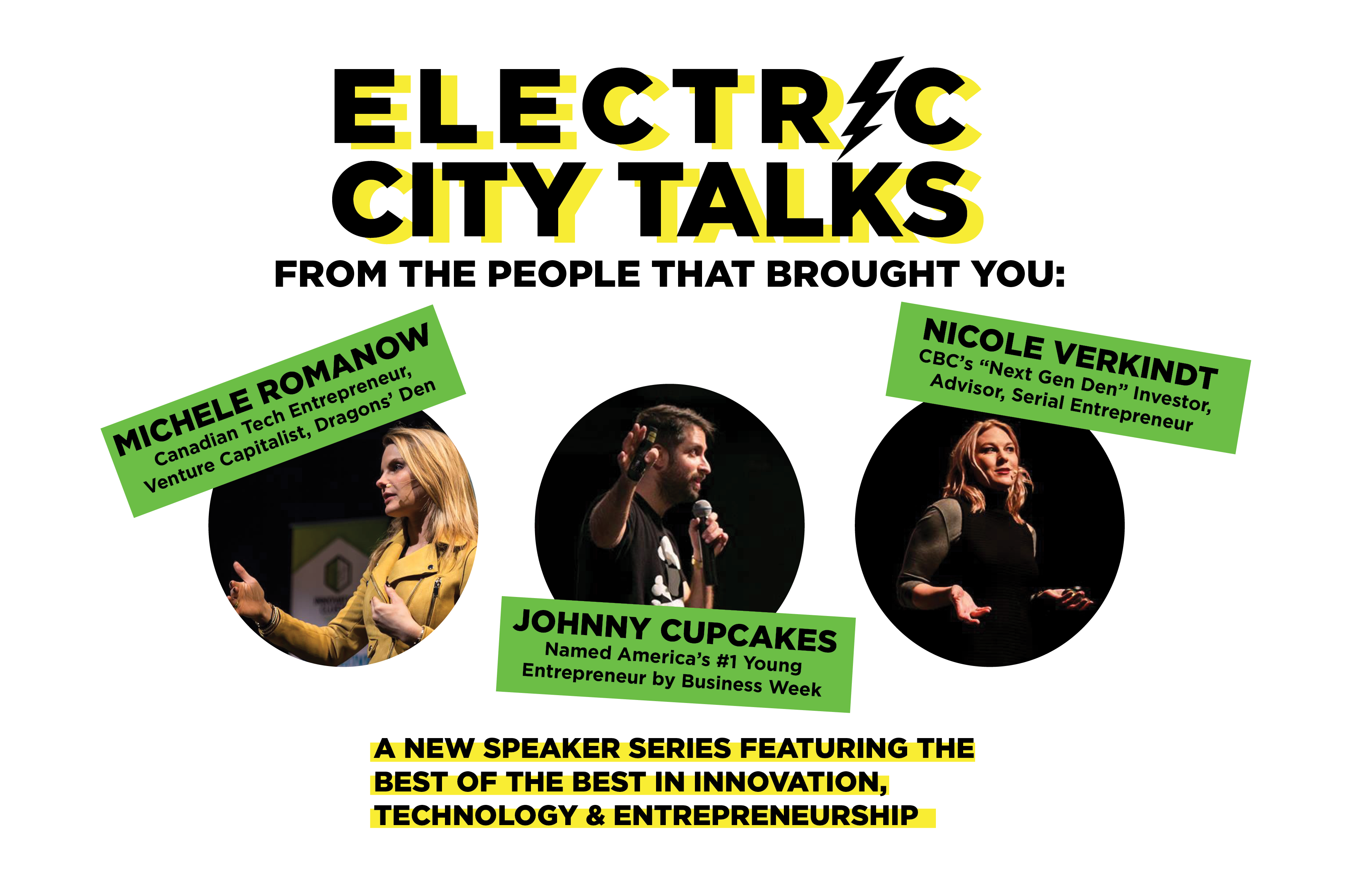 """Innovation Cluster Launches """"Electric City Talks"""", a Speaker Series Featuring Global Disruptors in Innovation, Technology and Entrepreneurship"""