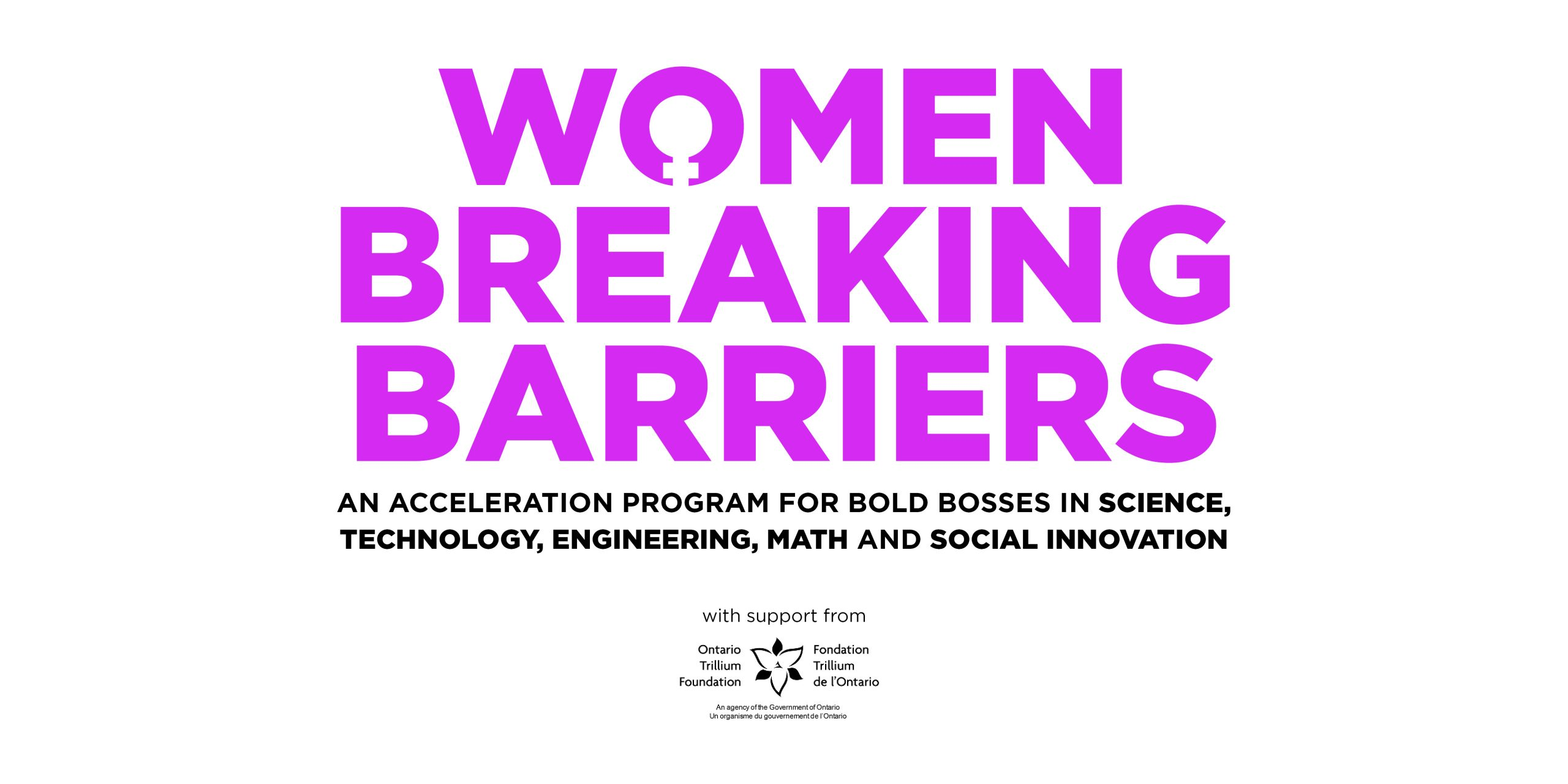 Innovation Cluster Launches Women Breaking Barriers Accelerator Program to Support Women Entrepreneurs in STEM and Social Innovation